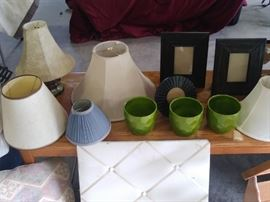 Assorted lampshades