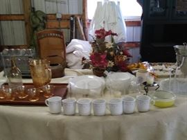 Set of dishes and assorted China