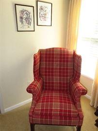 Harden plaid chair