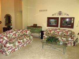 Harden floral sofas