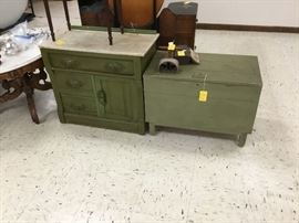 Vintage chest - opens from top; dresser with mirror