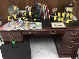 """We have lots of Racing memorabilia including Kentucky Derby glasses, Bobble head horses including """"Smarty Jones"""", books and pictures. If you like horse racing, you will love all this!"""