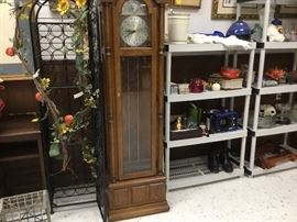 Grandfather clock and wine cabinet