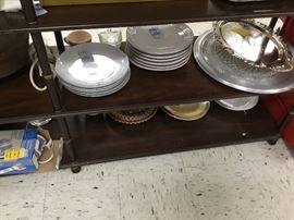 Dishes, silver plate items