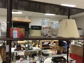 Shelf units throughout are full!