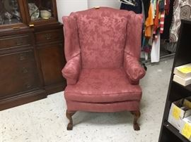 Orchid wing back chair - great condition