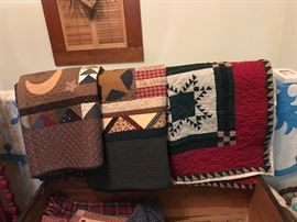 Just a few of the Hand Made Quilts