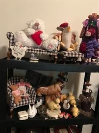 Decorations, chickens, red hat dolls, bunnies and much more