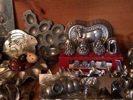 Lots of brass trinkets