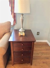 4-Drawer End Table