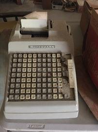 vintage, Burroughs adding machine