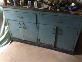 Great man cave piece for a TV console or for what it is...a workbench