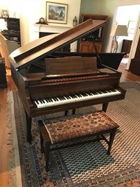 Brambach Baby Grand Piano , please note: rug under piano is not for sale