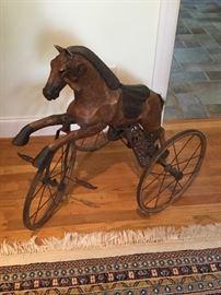Antique child's hand pedal toy. Excellent piece