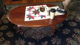 Mahogany queen Ann coffee table
