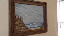 Sea landscape oil on canvas
