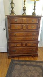 Solid wood chest of drawers lamps