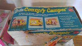 Appears to be new box has some wear Barbie Country camper