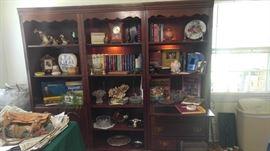 Large Mahogany breakfront Secretary book shelf sections