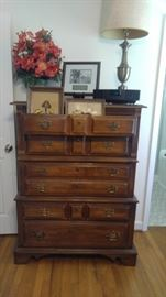 All wood solid chest of drawers