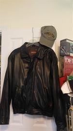 Cool black leather jacket
