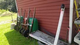 Wheel barrows ladders & More