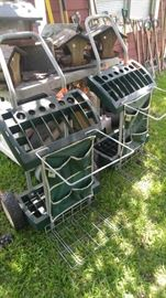 Gardening cart take everything with you place for the garbage can too!!