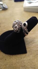 Antique sterling Lion Ring Greece