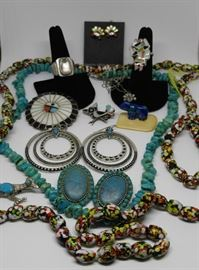 Vintage turquoise & native American jewelry