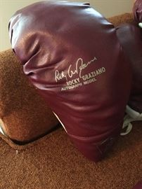 Vintage Rocky Graziano boxing gloves.  1970's