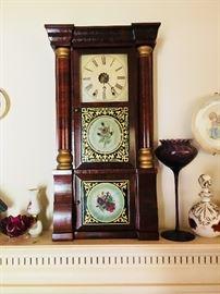Empire triple deck 8 day shelf clock/New Haven Clock Co.