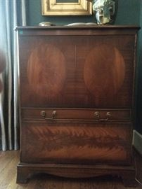 Love this 1950's television cabinet, great for storage!