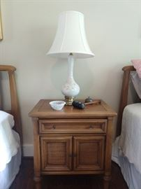 Matching nightstand to complete the White Furn. Co. ensemble.