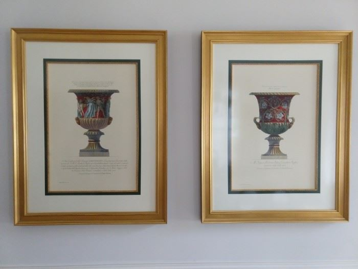 Very nicely matted/framed/fileted urn prints.