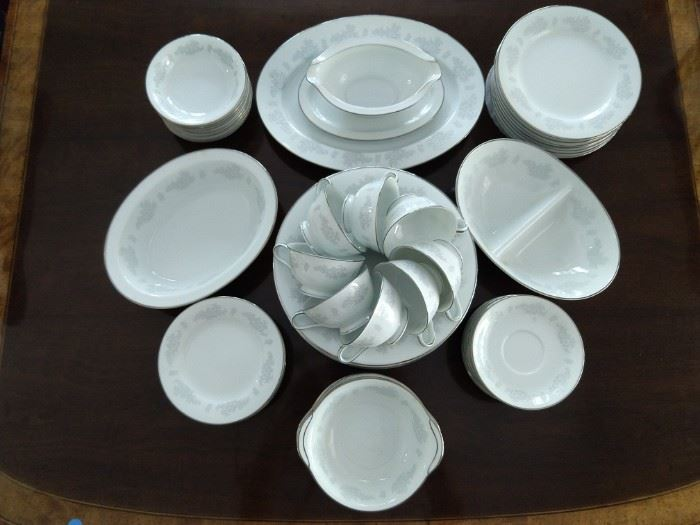 "Vintage 60-piece set Noritake ""Armand"" china."