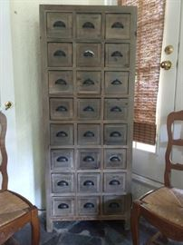 There a PAIR of these wonderful 24-drawer storage chests.