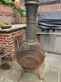 Woo hoo! Who says they don't get wild & crazy in Lenox Park/Morningside? One look at this cast iron hoochie mama of a DeckMate chiminea and you know this neighborhood rocks!                                                                                                         You can be very PC, invite all of your Mexican friends and priests, add liquor and if a fight breaks out, you can call it Alien vs. Predator!