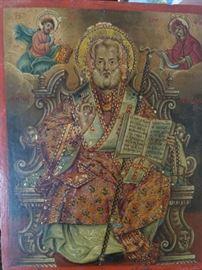 19th century Icon, of Saint Nicholas.