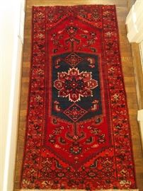 """Vintage hand woven Persian Viss rug, 100% wool face, measures 3' 5"""" x 6' 5""""."""