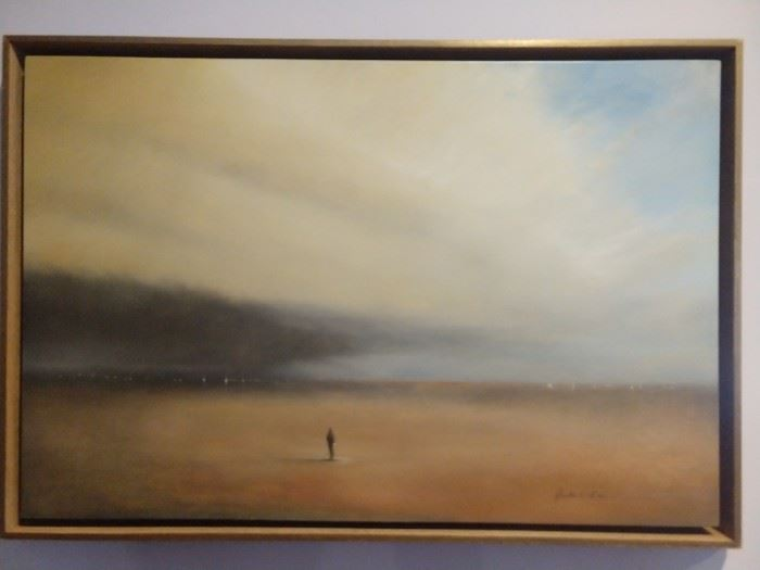 """Original oil on panel, """"Approaching Storm"""", by Lookout Mountain artist, Scott Hill; measures 20"""" x 30"""", w/o frame.                                                                                                    Could it be FLORENCE?!?"""
