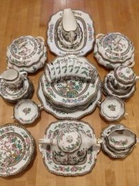 """Beautiful 75-piece set of scalloped Coalport (England) """"The IndianTree"""" china; this pattern was first produced in 1801."""