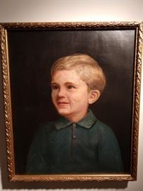 """Lovely original oil portrait of the perfect """"Best Little Boy in the World"""", from Reeves and Sons Limited, London (1776-1976)."""