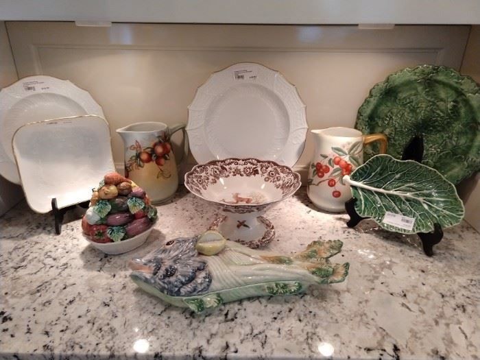 Nice collection of European porcelains - love the fish server!