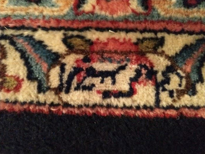 Artisan weaver's signature.