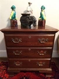 Two drawer mahogany side table.