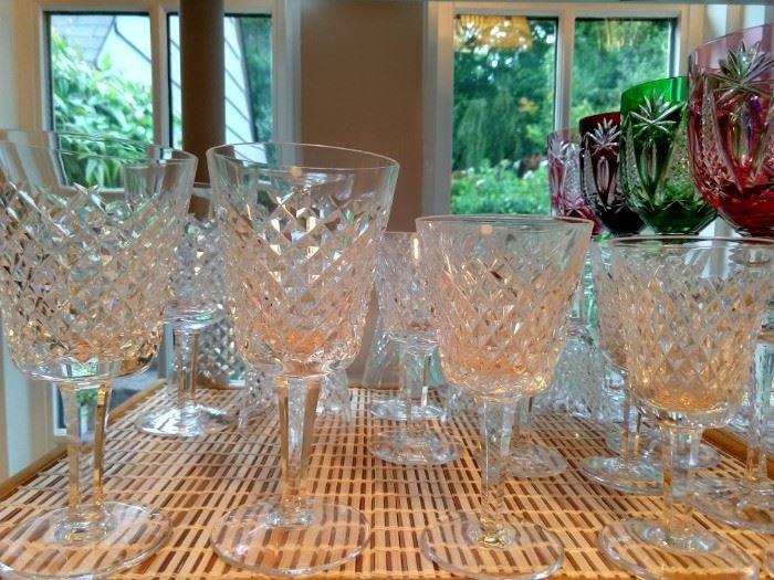 "30-piece set of Waterford ""Alana"" cut crystal stemware."
