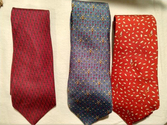 A smattering of Hermes men's ties.
