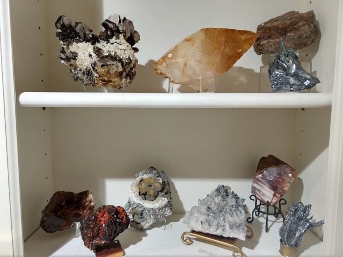 A few of the minerals that Chuck & Aaron will have available at the sale.