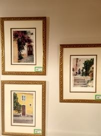 Set/6 nicely framed/matted original photographs of the doors of Europe, by Joe Don Willis.