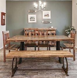Gorgeous Mango Wood Dining Table.